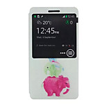 Elephant Pattern PU leather phone Case For Lenovo A536