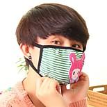 Lovely Doll Pattern Fleece Anti-Dust Winter Thermal Adult Respirator Face Masks Health Gauze Mask (Random Color)
