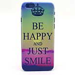 Keep Clam and Just Smile Pattern Hard Case Cove for iPhone 6