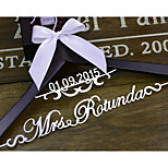 Gifts Bridesmaid Gift Deluxe Personalized Wedding Dress Hanger, Custom Bridal Bridesmaid Hanger EL001