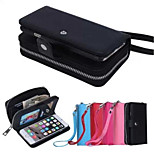PU Leather Special Design Litchi grain fission sealing zipper purse holster iPhone 6(Assorted Colors)