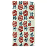 Pineapple  Pattern PU Leather Phone Case for iPhone5/5S