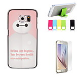 Baymax Design Hard Case with Screen Protector and Stand Holder for Samsung Galaxy S6