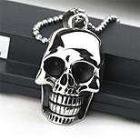 Fashion Skull Titanium-Steel Pendant(Black)(1Pc)