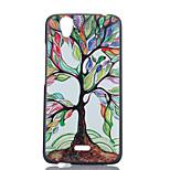 colored padrão árvores pintadas caso de telefone PC para Wiko birdy