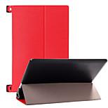 Unifarben Luxus-Leder-dünne intelligente Ganzkörper-Standplatz Fall Abdeckung für Lenovo Yoga 2 1050 (verschiedene Farben)