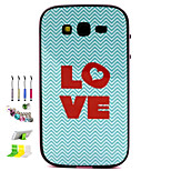 Love Pattern Combo Material Phone Case And Support Dust Plug Stylus Pen  for Samsung Galaxy Grand Neo I9060
