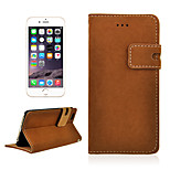Angibabe latest Winter Mouse grain PU Matte Leather Wallet Case with Card Slots & Stand for iPhone 6(Assorted Color)