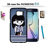 3 d art design pour protéger le Samsung Galaxy S6 et écran tactile stylo hd combinaison de support de membrane