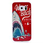акула шаблон ТПУ окрашены мягкой заднюю крышку для Samsung Galaxy S6