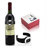celsius digitales reloj rojo botella de vino medidor de temperatura del termómetro eléctrico