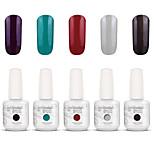 nail art gelpolish tremper hors uv ongles gel gel de couleur de vernis kit de manucure 5 couleurs définies s120