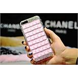 cas de téléphone de luxe Deluxe de main bling diamant carré strass dur de couverture de cas pour l'iphone 4