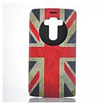 M word Flag Pattern Quality Bracket Case for LG G4