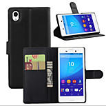 Litchi Around Open Bracket Leather Phone Wallet Card Suitable for Sony Xperia M4 Aqua(Assorted Color)