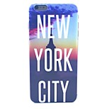 New York City Pattern PC Material Phone Case for iPhone 6 Plus