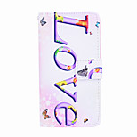 Magic Spider® Love Pattern PU Full Body Case Stand with Screen Protector for Sony E3
