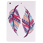 Colorful Feather Picture PU Leather Full Body TPU Case with Card Holder for Ipad Air Ipad 5
