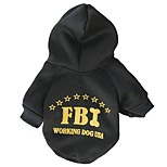 Stylish FBI Pattern  T-Shirt with Hoodie for Pets Dogs (Assorted Sizes)