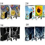 XBOX360 슬림 콘솔 스킨 스티커 데칼&2 컨트롤러