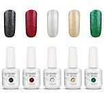 Gelpolish Nail Art Soak Off UV Nail Gel Polish Color Gel Manicure Kit 5 Colors Set S127