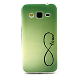 Eight Green Smile  Pattern TPU Soft Case for Samsung Galaxy Core Prime G360/G3608