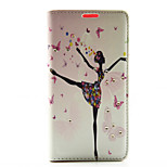 Butterfly Girl Dance Ballet Pattern Diamond Wallet Style PU Leather with Card Slot Case for Sony Z4