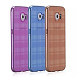 Momax® Refreshing Series Plaid TPU Transparent Ultra Thin Case Cover for Samsung Galaxy S6 (Assorted Colors)