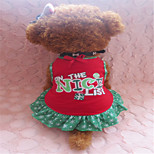 Holdhoney Red Green Edge Printing Heart Cotton Vest Dresses For Pets Dogs (Assorted Sizes) #LT15050108