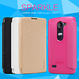 NILLKIN Sparkle Series Flip Ultra-thin PU Leather Cover Shell for LG Leon(H324)(Assorted Colors)