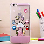 Cute Animal Pull Soft Shell for iPhone 6(Assorted Colors)