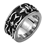 Anchor AAA Zircon Exaggerated Personality Rock Titanium Steel Stainless Steel Men's Ring