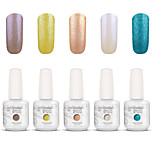 Gelpolish Nail Art Soak Off UV Nail Gel Polish Color Gel Manicure Kit 5 Colors Set S130