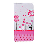 2015 The Newest Painted Dandelion Series Sweet Dandelion PU Soft Case for iPhone 6