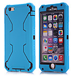 2015 new for iPhone6 three in one robot shell(blue silica gel + Black PC)