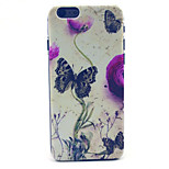 Butterfly Pattern Plastic Hard Cover for iPhone 6