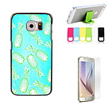 Pineapple Design Hard Case with Screen Protector and Stand Holder for Samsung Galaxy S6