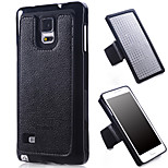 Specially Designed Combination TPU+Genuine Leather+Nylon Wrist Strap Back Cover for Samsung Galaxy Note4