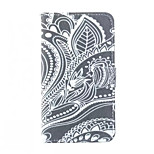 Flowers Pattern PU Leather Case with Stand and Card Slot for LG G3