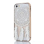 Phnom Penh Metal Frame and Campanula Pattern PC Backplane Can pull Combo Material Phone Case for iPhone 5/5S