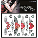 Tattoo Stickers Non Toxic/Pattern/Lower Back/Waterproof Others Adult/Teen Black Paper 1 17*16 Heart