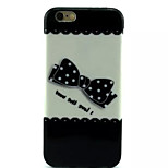 Cover Back Case Black Bow TPU Soft Case Special Design for iPhone 6