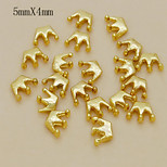 W114 10pcs/lot Golden Color 5mm*4mm Crown Alloy Nail Accessories for Fashion Women Ladies Nail Art Phone Clothes Decor