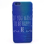 Sea If You Want to Be Happy Pattern Hard Case Cove for iPhone 6