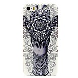 Thick Lip Deer Head Pattern PC Hard Back Cover Case for iPhone 5/5S