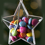 Clear Plastic Acrylic Fillable Star Ornament 80mm - Pack of 5