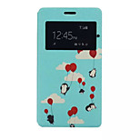 Sky Birds Pattern PU Leather Phone Case For Sony C4