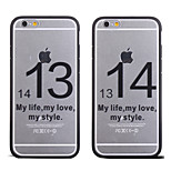 Cool Word 1314 Life Love Style Pattern Frame Back Cover for iPhone 6