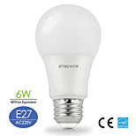 Bymea E27 6W 500lumen LED Lamp A60 for Home Warm White,Natural White Choose Energy Saving (AC220V)