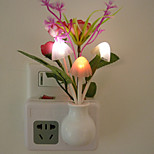 Intelligent Light Control LED Night Light Wall Sconce Rose Bud